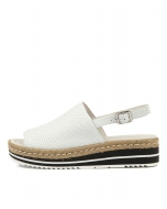 ADIDAH WHITE EMBOSSED LEATHER