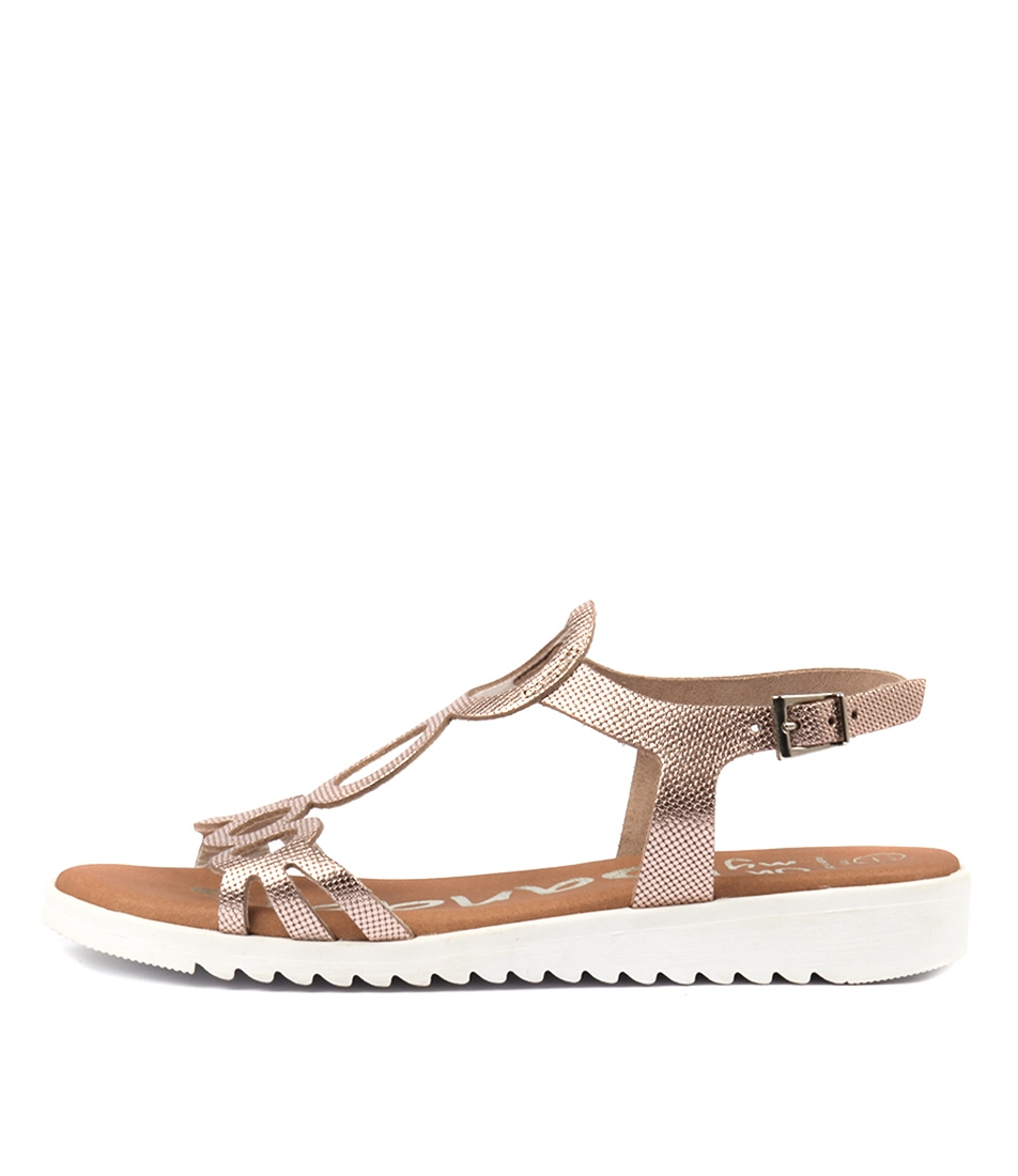 7cb5abd82 OPTIMUS ROSE GOLD METALLIC LEATHER by OH MY SANDALS - at Cinori