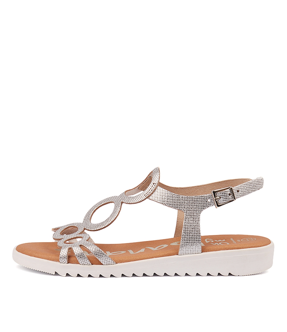 fbce83778 OPTIMUS SILVER METALLIC LEATHER by OH MY SANDALS - at Cinori