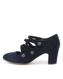 EMELDA NAVY SUEDE LEATHER