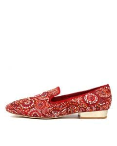 MARILEE RED SUEDE