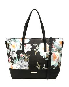 SHARON GG BLACK FLORAL SMOOTH