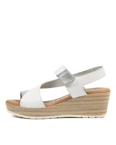 e3b0816dc OH MY SANDALS obas silver white leather
