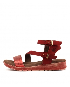 TRICIA RED LEATHER