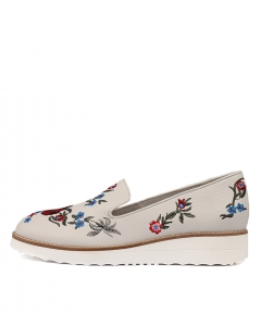 ODILE WHITE EMBROIDER LEATHER