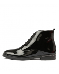WHO BLACK PATENT LEATHER