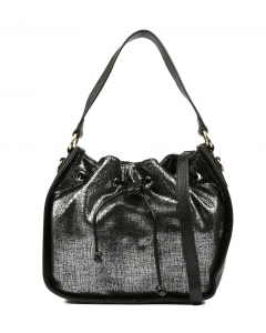 YVETTE WZ BLACK METALLIC LEATHER